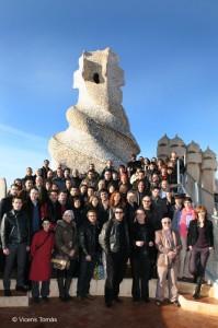 Presentació a la Pedrera de Barcelona, amb tots els nominats