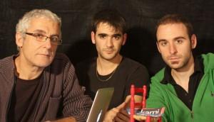 Joan Sala i el seus fills Adrià i Jonàs (2011)