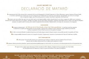 Imatge: 'Declaració de Mataró'