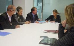 La reunió al Consell Comarcal | Foto: CCM