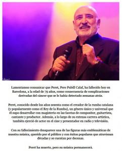 Comunicat oficial | Font: peret.es