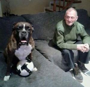 Rafel Sellés i el seu gos Duc