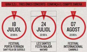 Els tres concerts 'únics' dels Sopa