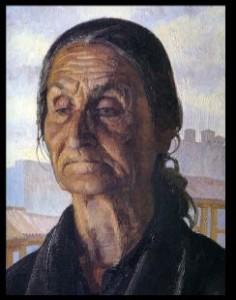 Anciana gitana