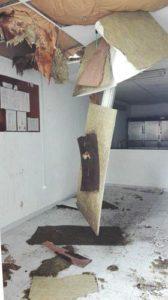 El sostre afectat | Foto: Aj.